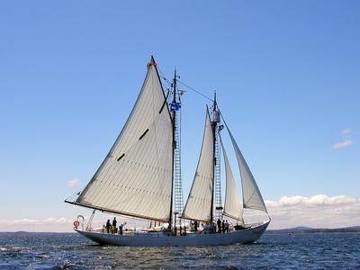 The Schooner Bowdoin comes home