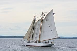 The 'Bowdoin' at sea