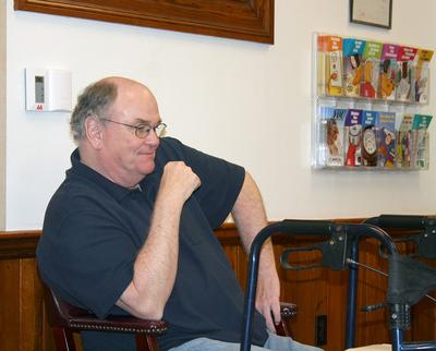 Retiring town manager Dale Abernethy