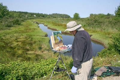 "The British Canal, painted ""en plein air"""