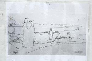 Artist's sketch of Schoodic sculpture