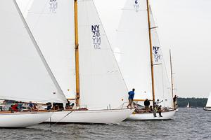 A fleet of NY 32 yachts