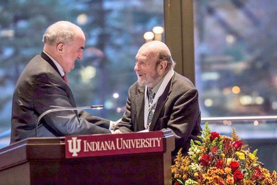 Artist George Ortman is honored by Indiana University
