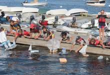 Lord Nelson Race starts from the Castine Yacht Club dock