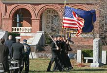 The flag guard opens the ceremony