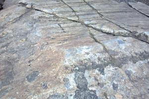 Striations on a Maine rock formation
