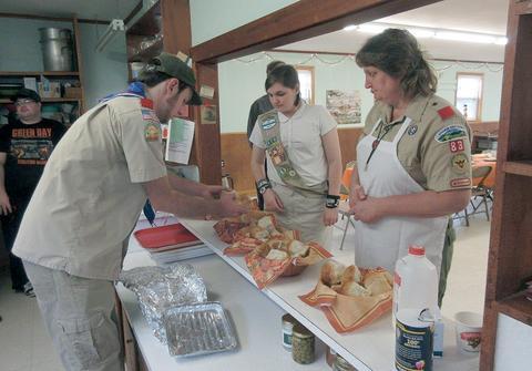 Preparing the rolls
