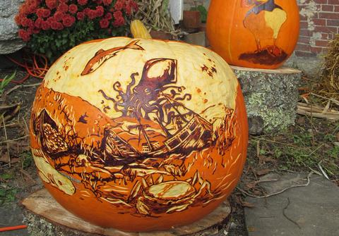 Pumpkin carving and art