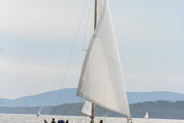 'Fortitude' sails in the Retired Skippers Race