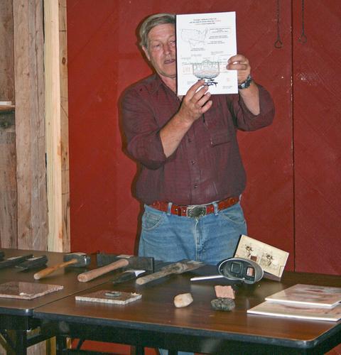 Steve Haynes explains the history of the Maine granite industry