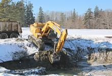 Winter work at the Castine golf course