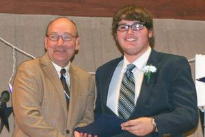 Penobscot 2014 graduate Ethan Snow receives diploma