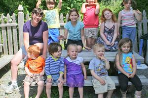The kids of Otter House child care center