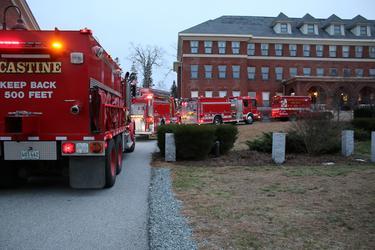 A fire truck escort