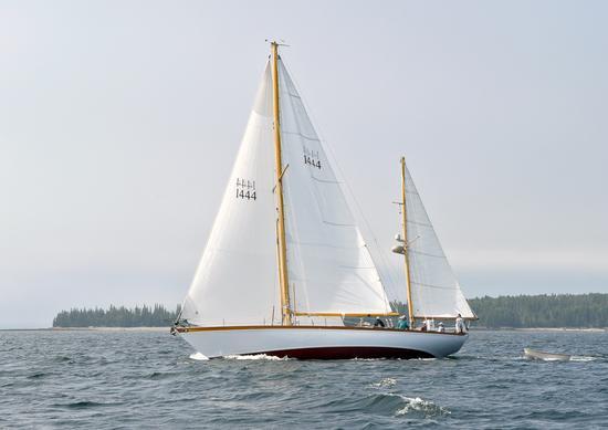 Aage Nielsen yacht races Penobscot Bay