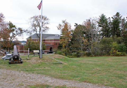 Overlooking campus