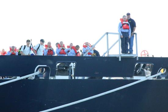 Students jump from ship into new school year