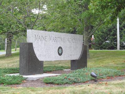 Maine Maritime Academy sign