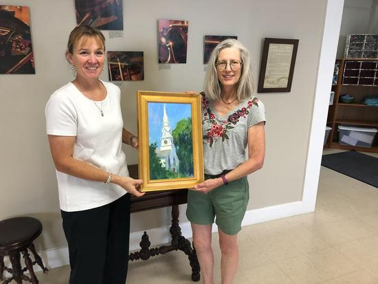 Artist donates painting to church