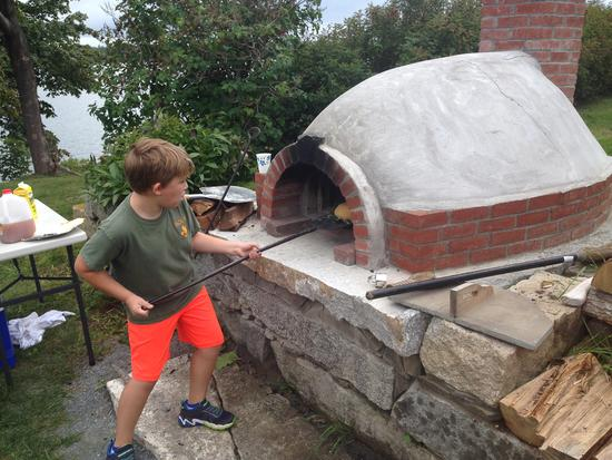 Baking outdoors at the Wilson Museum