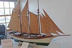 Model boat at PERC