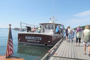 The F/V Resolute at the Boat Show
