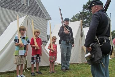 Drill instructions at the Civil War Camp