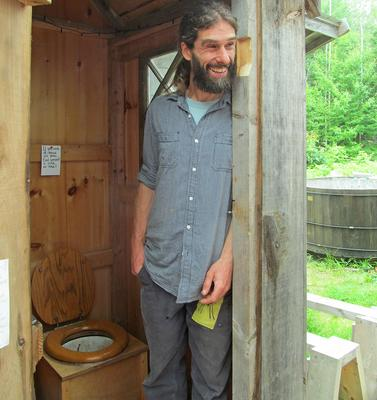 Dennis Carter talks about the composting toilet