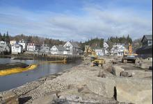 Work continues at Stonington's Hagen Dock