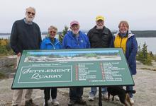 Settlement Quarry receives sign