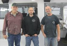 Oceanville Boatworks owners Tim Staples and Dale Haley Sr.