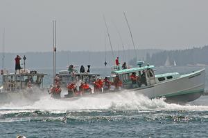 Stonington Harbor comes alive for lobster boat races