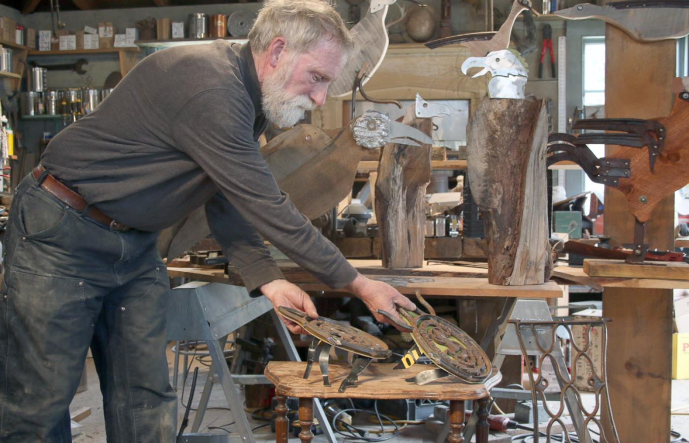 Deer Isle Sculptor Creates Art From Found Objects Antique