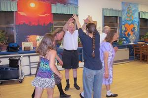 Scottish Country Dancing class at the Island Community Center in Stonington