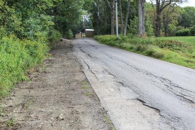 Fall paving in Deer Isle