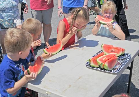 Watermelon-eating contest