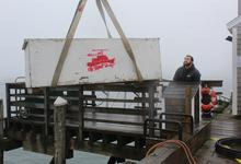 Loading freight to Isle au Haut