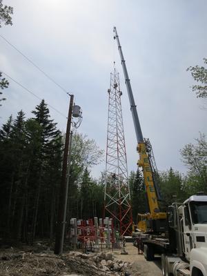 Communications tower installation
