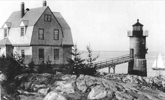 The lighthouse circa 1908