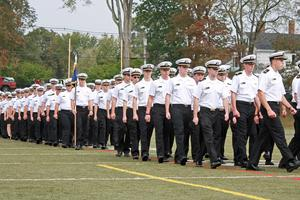 Midshipmen in formation