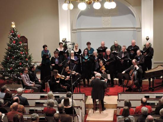 The Blue Hill Bach chorus and orchestra