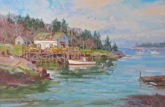 Blue Hill Bay Gallery remembers Strisik