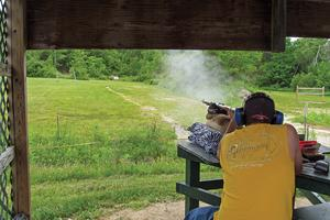 Matthew Duffy at the Blue Hill Rifle and Pistol Club