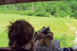Alexandria Kay at the Blue Hill Rifle and Pistol Club