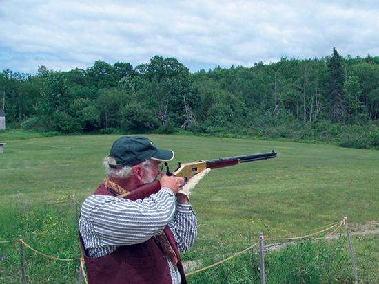 Dick Noble at the Blue Hill Rifle and Pistol Club