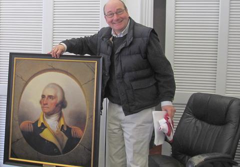 Portrait of George Washington presented to Blue Hill Selectmen