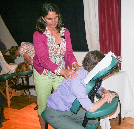 Therapeutic massage mini sessions at Women's Wellness Fair