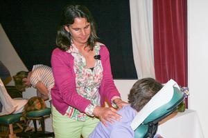 Therapeutic massage mini sessions at Women's Wellness Fair