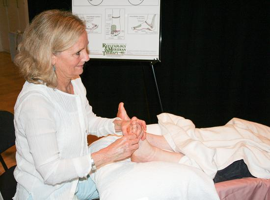 Women's Wellness Fair offers a taste of reflexology