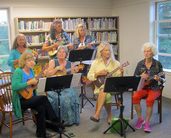 Ukuleles contribute to library open house